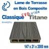 Lame de Terrasse Bois Composite Classique Evolution Titane longueur 2 mètres