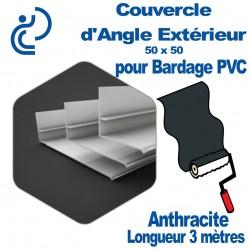 Couvercle d'angle Extérieur ton Coordonné Pour bardage Anthracite 50x50 longueur 3ml