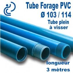 Tube Forage PVC 103/114 Plein A visser longueur 3ml