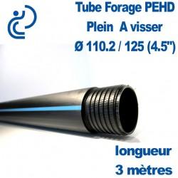 "Tube Forage PEHD 110.2x125 (4.5"") Plein longueur de 3ml"