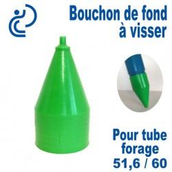 Bouchon de Fond en PVC a visser pour tube forage 51.6/60