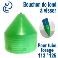 Bouchon de Fond en PVC a visser pour tube forage 113/125