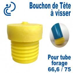 Bouchon de Tête PVC a visser pour tube forage 66.6/75