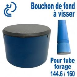 Bouchon de Fond en PVC a visser pour tube forage 144.6/160