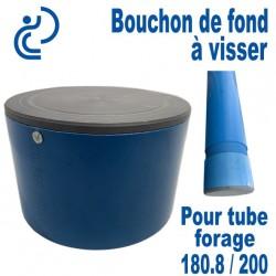Bouchon de Fond en PVC a visser pour tube forage 180.8/200