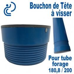 Bouchon de tête PVC a visser pour tube forage 144.6/160