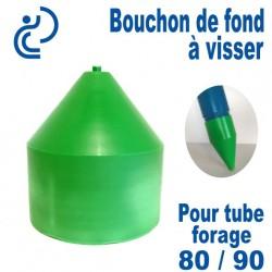 Bouchon de Fond en PVC a visser pour tube forage 80/90