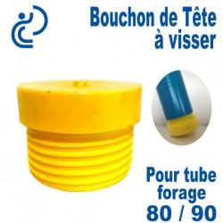 Bouchon de tête PVC a visser pour tube forage 80/90