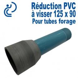 Réduction PVC a visser 125 x 90 Femelle-Mâle pour Tubes Forage