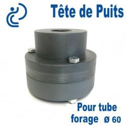 Tête de Puits en PVC Ø60 pour Pompe de Forage Immergée