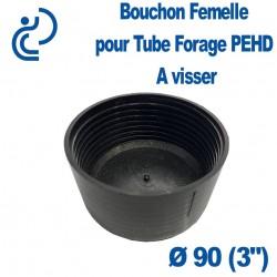 "Bouchon taraudé Femelle pour Tube forage PEHD Ø90 (3"")"