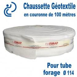 Chaussette Géotextile Pour Tube Forage Ø114 Couronne de 100 mètres
