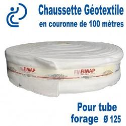 Chaussette Géotextile Pour Tube Forage Ø125 Couronne de 100 mètres