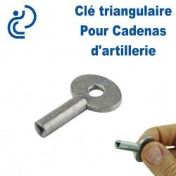 Clé Triangulaire pour Cadenas d'Artillerie