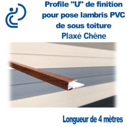 PROFILE DE FINITION U CHENE POUR LAMBRIS longueur de 4ml