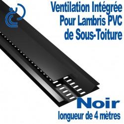 """Profile de ventilation intégré """"entre lame"""" pour lambris PVC Noir longueur de 4ml"""