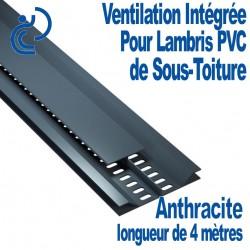 """Profile de ventilation intégré """"entre lame"""" pour lambris PVC Anthracite longueur de 4ml"""