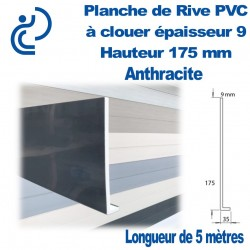 PLANCHE DE RIVE A CLOUER PVC ANTHRACITE en L Ep9 H175 longueur de 5ml