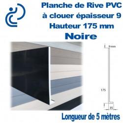 PLANCHE DE RIVE A CLOUER PVC Noir en L Ep9 H175 longueur de 5ml