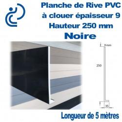 PLANCHE DE RIVE A CLOUER PVC Noir en L Ep9 H250 longueur de 5ml