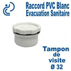 Bouchon / Tampon de visite PVC Blanc Ø32