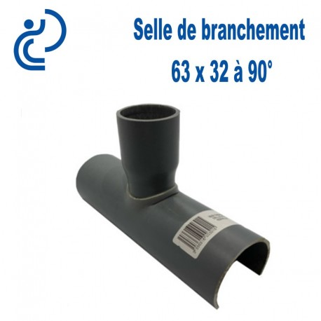 Selle de Branchement 63x32 à 90° PVC à coller