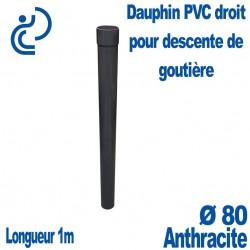 Dauphin PVC Droit Anthracite D80 1ml