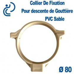 COLLIER DE GOUTTIERE PVC SABLE D80