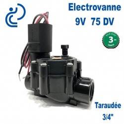 """ELECTROVANNE 9V 3/4""""F 075DV"""