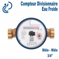 """Compteur Divisionnaire Eau Froide 3/4"""""""