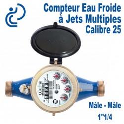 """Compteur Eau Froide à Jets Multiples Calibre 25 Ø1""""1/4"""