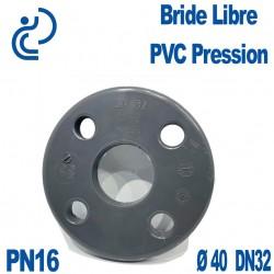 Bride Libre PVC Pression D40 DN32 PN16