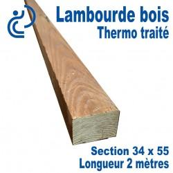 Lambourde en Bois Thermo Traité 34x55x2000mm
