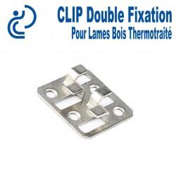 Clip Double pour Fixation Lames Terrasse Bois Thermotraité