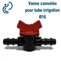 Vanne Cannelée 2 côtés pour Tube Irrigation Ø16