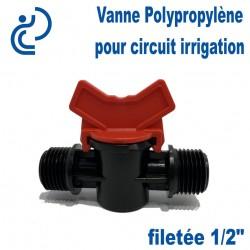 "Vanne Irrigation Polypropylène filetée 1/2"""