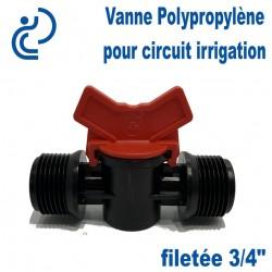 "Vanne Irrigation Polypropylène filetée 3/4"""