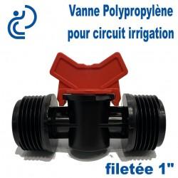 "Vanne Irrigation Polypropylène filetée 1"""
