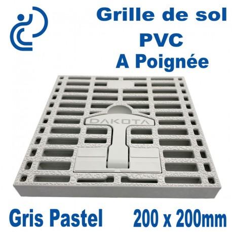 Grille de Sol PVC à Poignée 200x200mm Gris Pastel