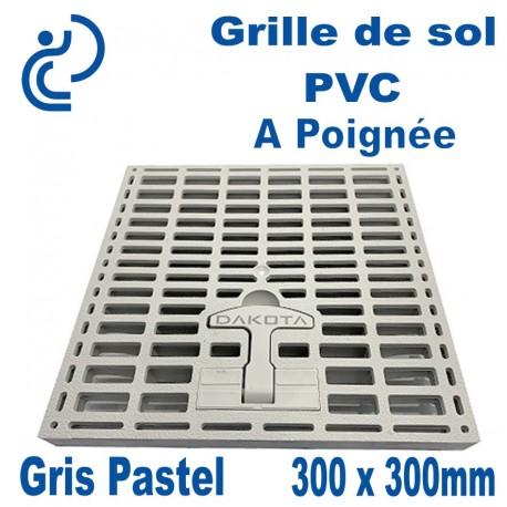 Grille de Sol PVC à Poignée 300x300mm Gris Pastel