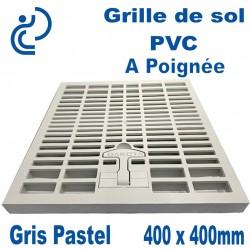 Grille de Sol PVC à Poignée 400x400mm Gris Pastel