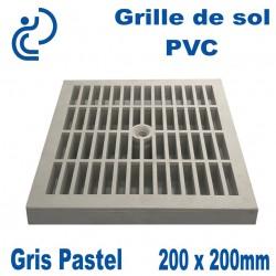 GRILLE DE SOL 20x20 Gris Pastel (trame classique)