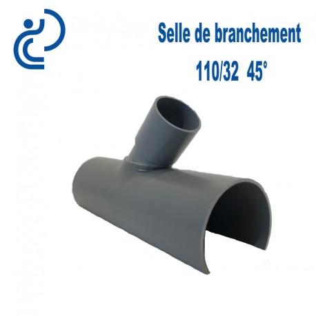 Selle de Branchement 110x32 à 45° PVC à coller