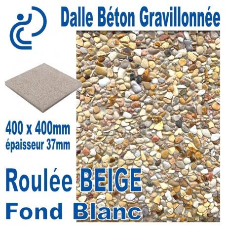 Dalle Béton Gravillonnée Jaune 400x400 ep 37