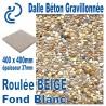 Dalle Béton Gravillonnée Roulée BEIGE 400x400 ep 37 fond blanc