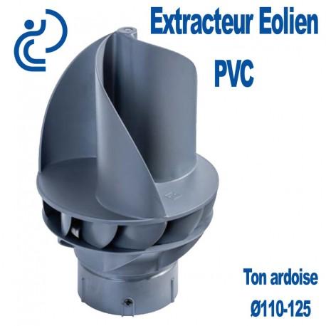 Extracteur Eolien PVC Ø110-125 Ton Ardoise