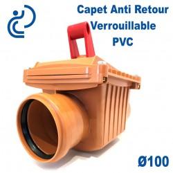 Clapet Anti retour A Battant Verrouillable PVC D100