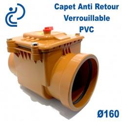 Clapet Anti retour A Battant Verrouillable PVC D160