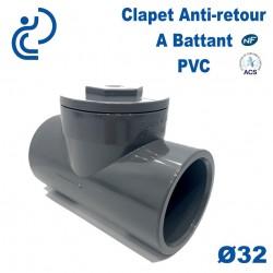 Clapet Anti-retour à Battant PVC D32 à coller PN10