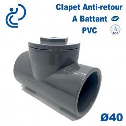 Clapet Anti-retour à Battant PVC Ø40 à coller PN10